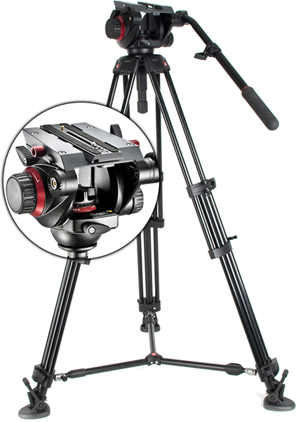 TREPIED VIDEO MANFROTTO 504 (x2)